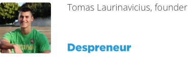 Tomas Laurinavicius despreneur