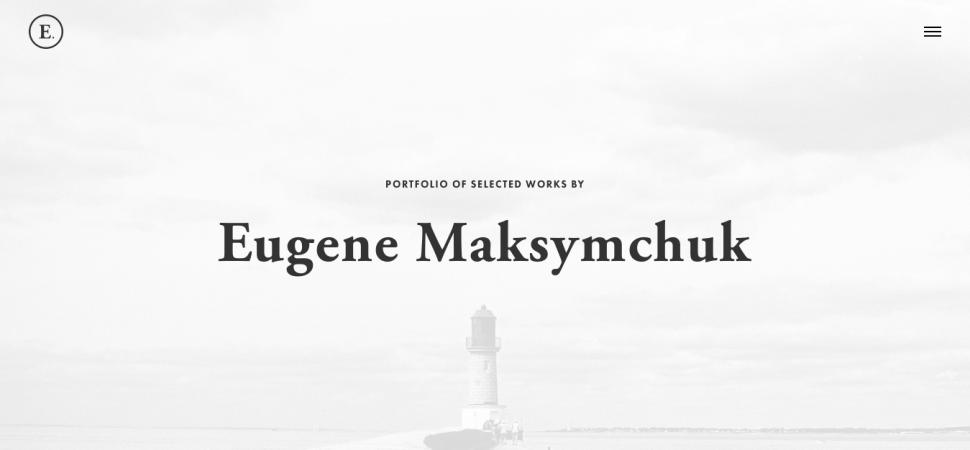Eugene Maksymchuk, designer portfolio
