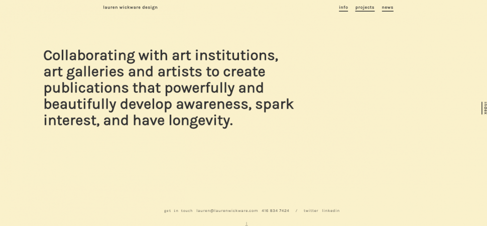 Lauren Wickware Design, website design inspiration