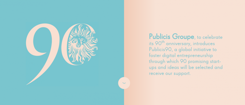 Publicis90, website design inspiration