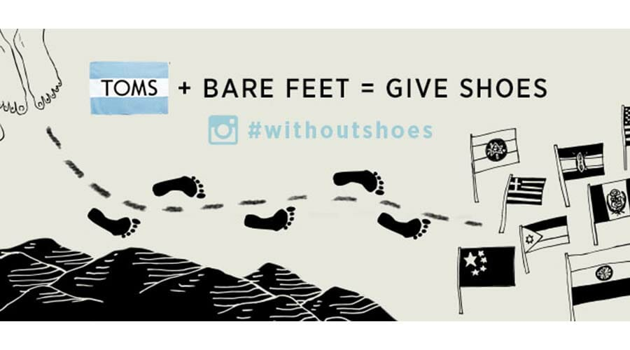 Toms, social media marketing graphics