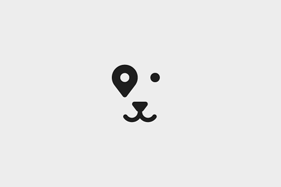 Pin dog, logo design inspiration