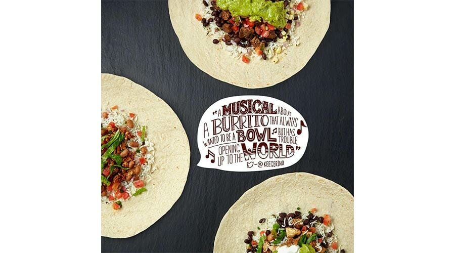 Chipotle, social media marketing graphics