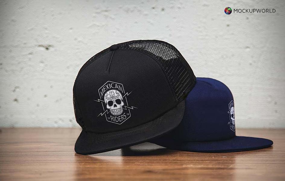 Hat Logo Mockup, free design mockups