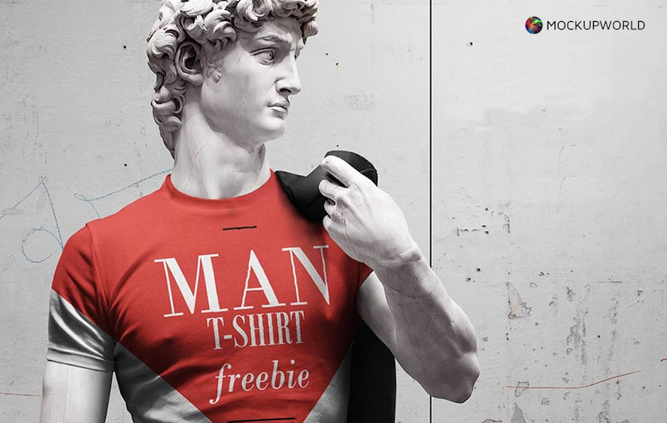 Man T-Shirt Mockup, free design mockups