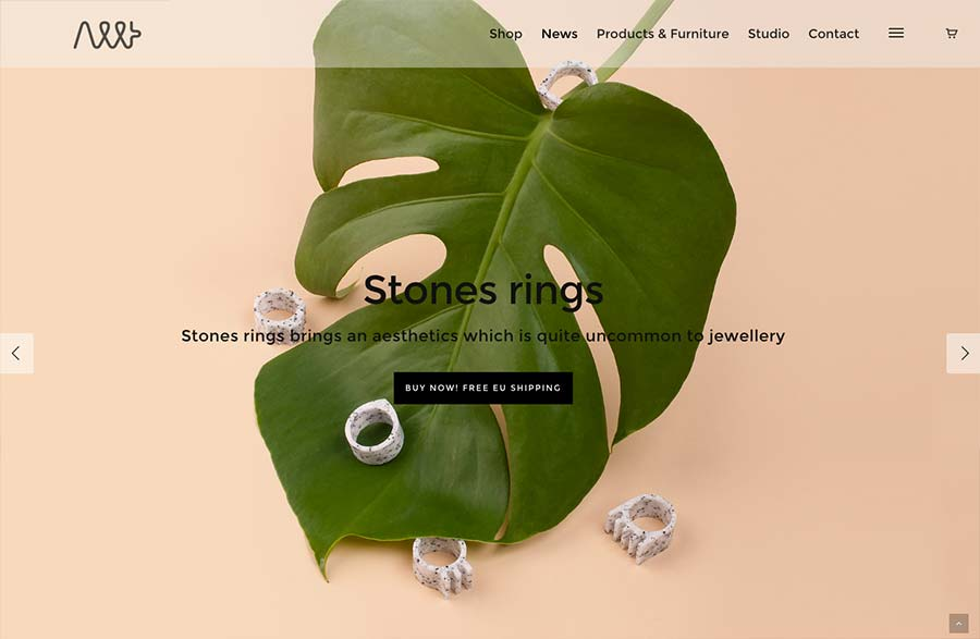 Allt Studio, ecommerce site design inspiration