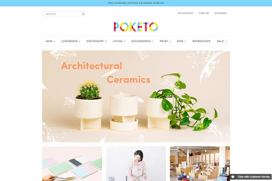 Poketo, ecommerce site design inspiration