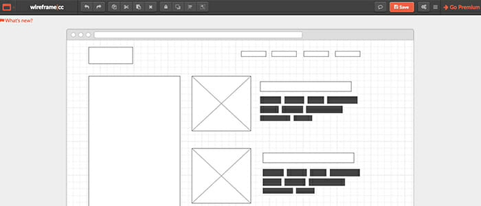 you dont even have to sign up to this awesome little wireframe tool just open it up and start working it supports copy pasting and inserting images - Website Prototyping Tool