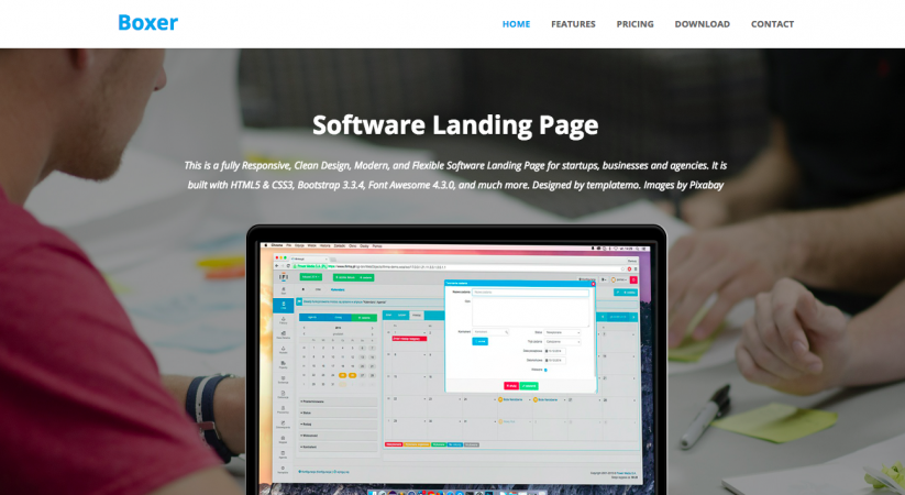 html template saas startup