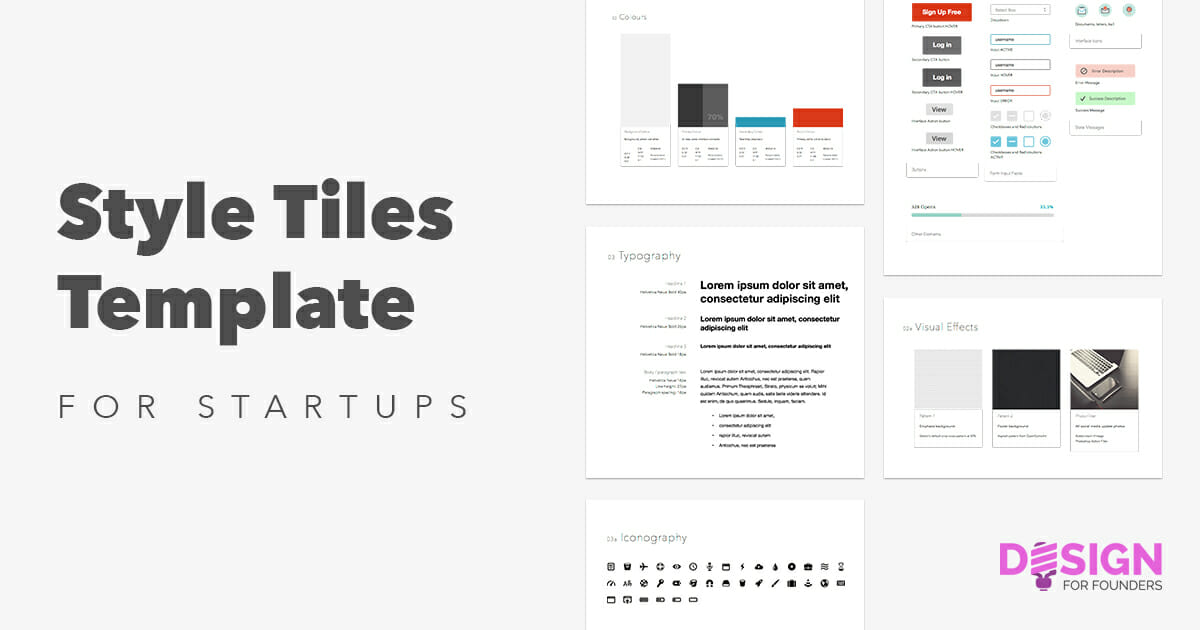 leanify your startup design with style guides