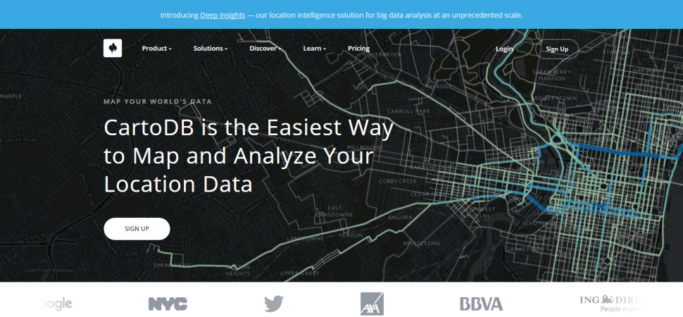 CartoDB, webpage, city, location, map, traffic