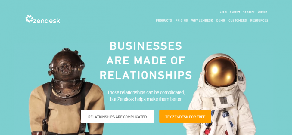 Zendesk, webpage, space, relationship