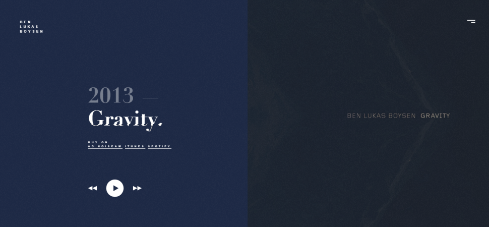Ben Lukas Boysen, website design inspiration