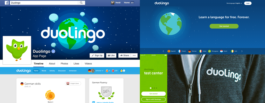 Duolingo, web design tips