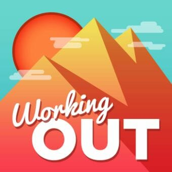 working out podcast cover art