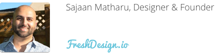 Sajaan Matharu, FreshDesign, website design inspiration