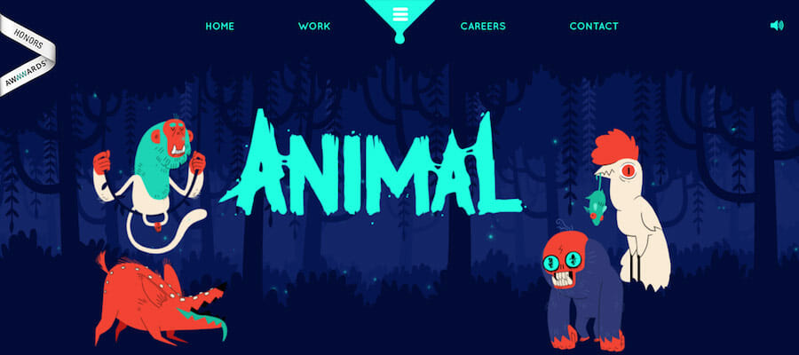 website design inspiration, Animal