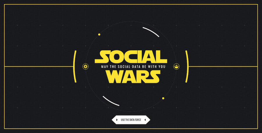 Social wars, website design inspiration