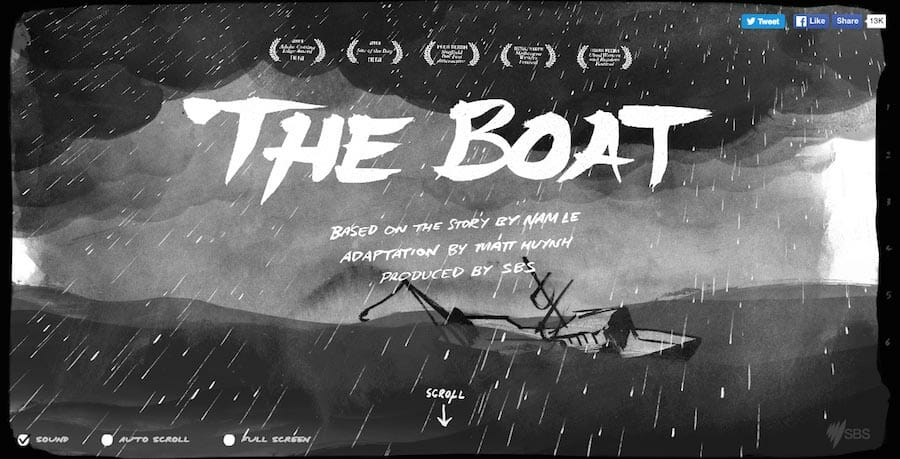 The boat, website design inspiration