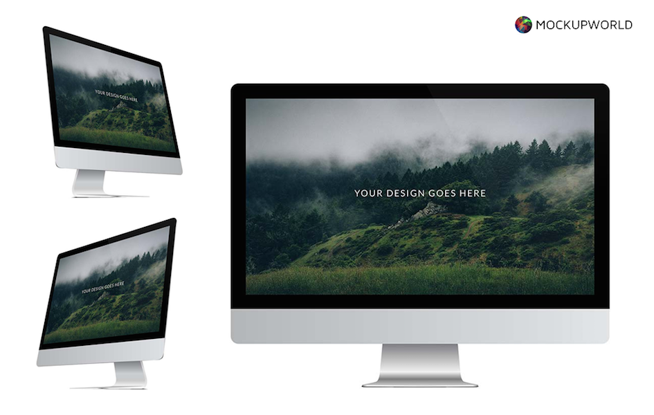 Collection of iMac Mockups, free design mockups