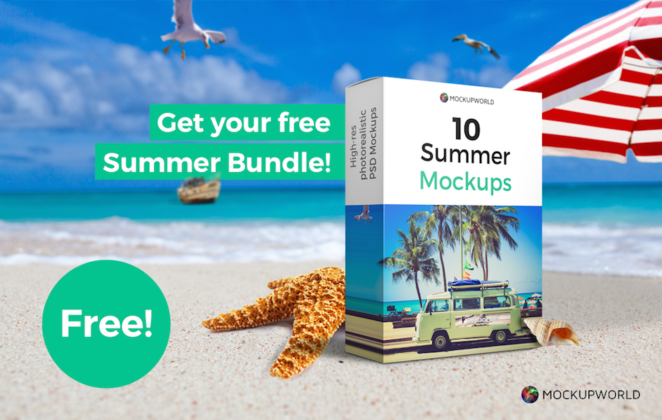 Exclusive: Free 10 Mockups Summer Bundle for New Subscribers, free design mockups
