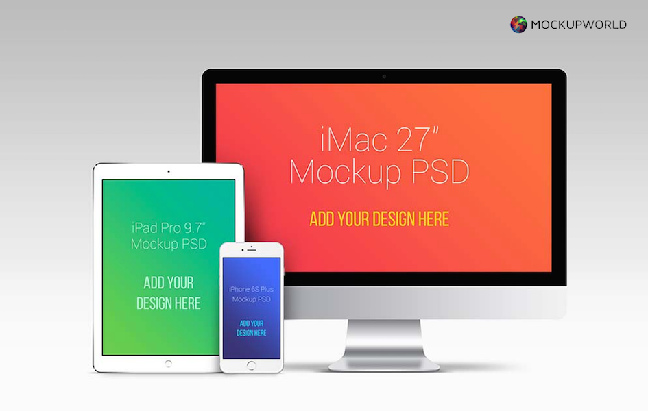 Apple Devices Mockup Bundle, free design mockups